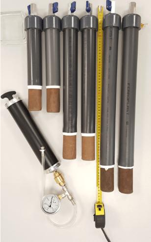 Grey Suction Probes Handmade Ceramic Capsules With Vaccum Pump